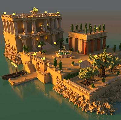 Voxel Home in Ancient Greece