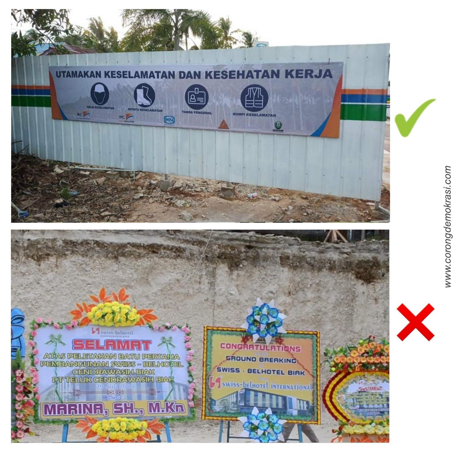 Pembangunan Hotel Bintang 4 Di Kab Biak Numfor Labrak Aturan Kesehatan Dan Keselamatan Kerja Konstruksi