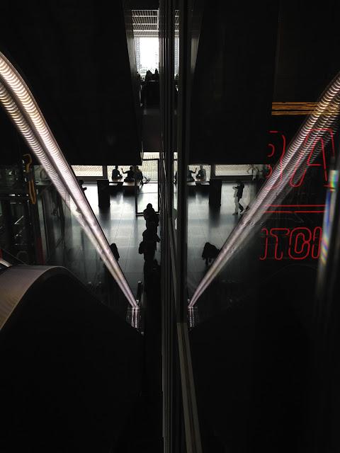 Escalator Reflection