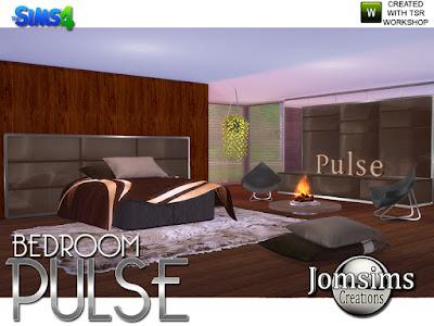 Pulse Bedroom Пульс Спальня для The Sims 4 Комфортные и современные линии. изголовье кровати, moderne.category, misc sims deco, 4 стиля. Консоль, 2 часть. 1 в категории, разное поверхность. Второе место в категории, Misc Deco. 4 стиля. 1 двуспальная кровать, коробка современная. 4 стиля. Одеяла для кровати 8 разных стилей. Подушки для кровати. 4 стиля. Подушки живое кресло. 4 стиля. Камины. круглый. Я использовал, bb.moveobjects. Потолочный завод. Скульптура Пульс в 4 стилях. жилое кресло современное. 4 стиля и металл. Автор: jomsims