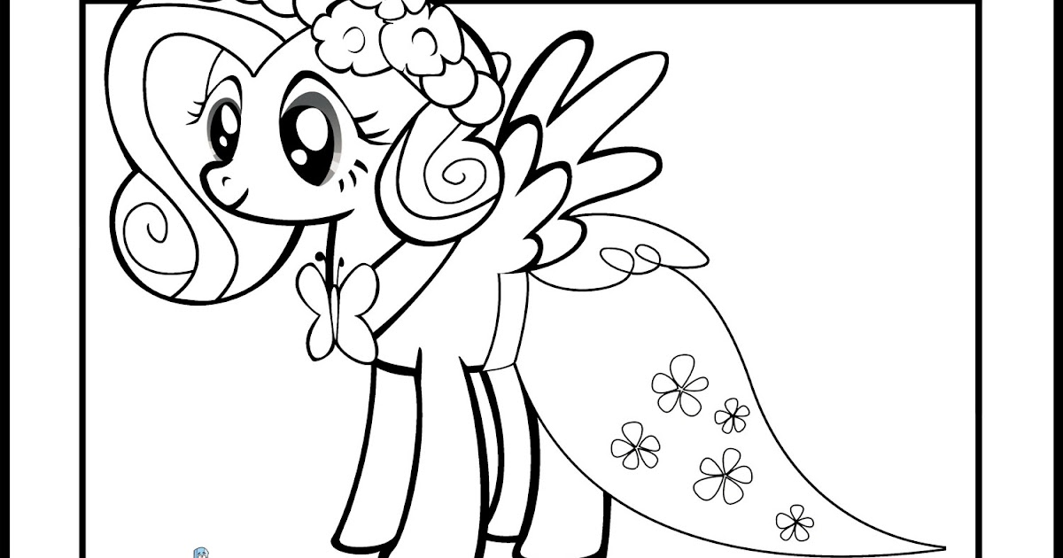 My Little Pony Coloring Pages Fluttershy