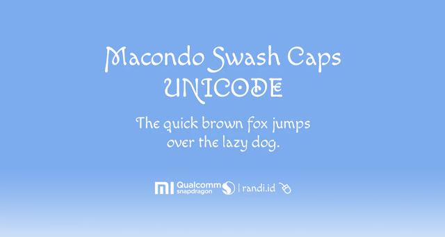 [Font MIUI] Macondo Swash Caps Unicode MTZ