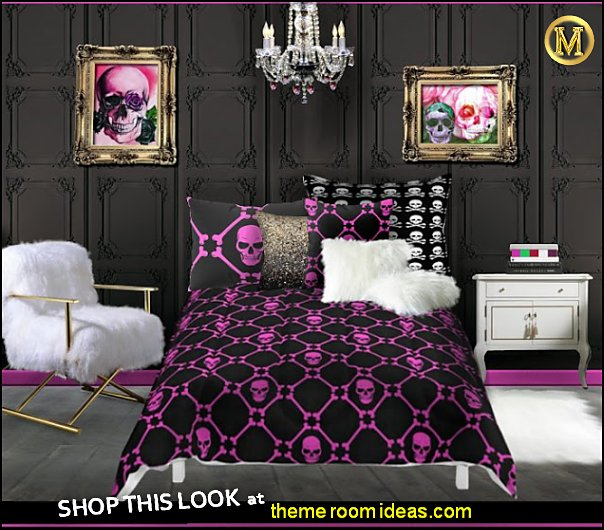 SKULL BEDROOM DECOR PINK SKULLS BEDROOM IDEAS Skull bedrooms  skull bedroom decor ideas