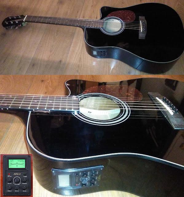 Guitarra electroacústica Aria ADW01 CE BK