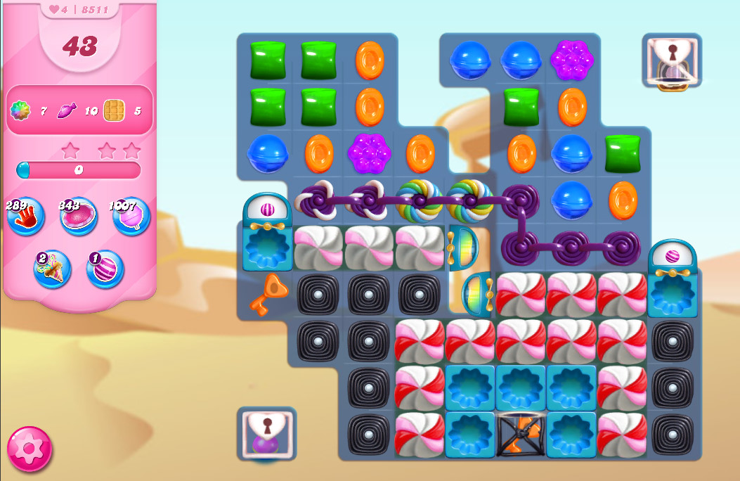 Candy Crush Saga level 8511