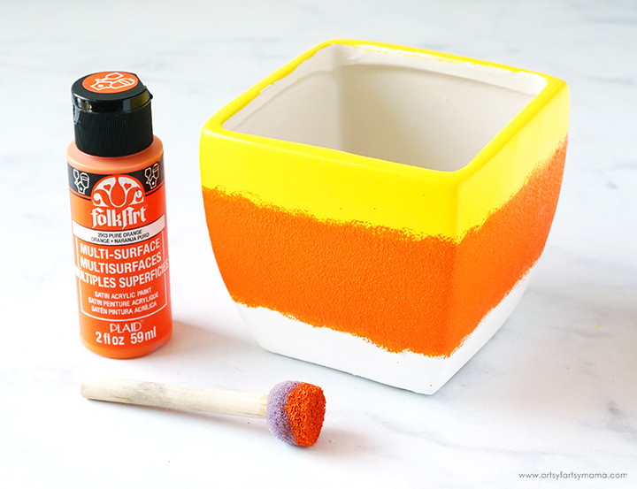 Candy Corn Bowl with Orange Paint