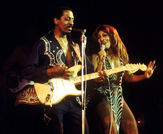 Picture of Linda's father Ike Turner in the stage performing