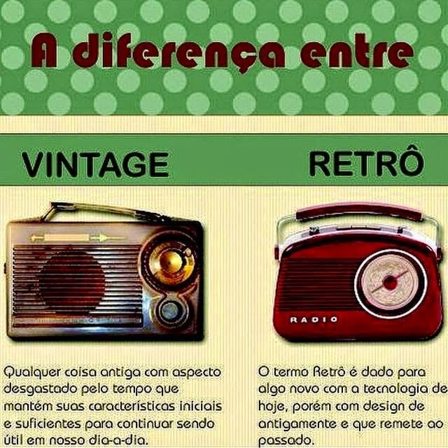 As diferenças entre retrô e vintage