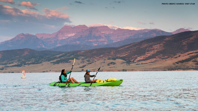 kayakers on deer creek reservoir