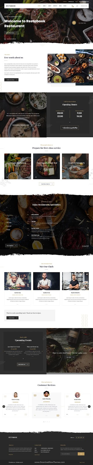 Best Restaurant / Cafe / Pub WordPress Theme