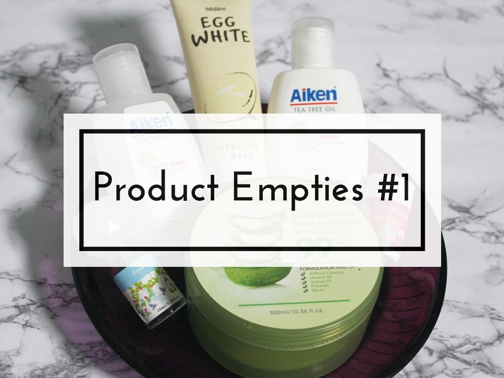 Product Empties #1