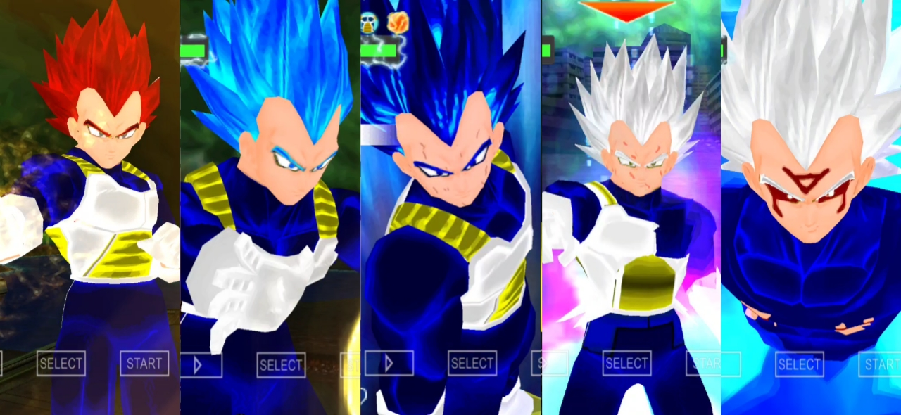 Vegeta SSB Evolution DBZ Raging Blast