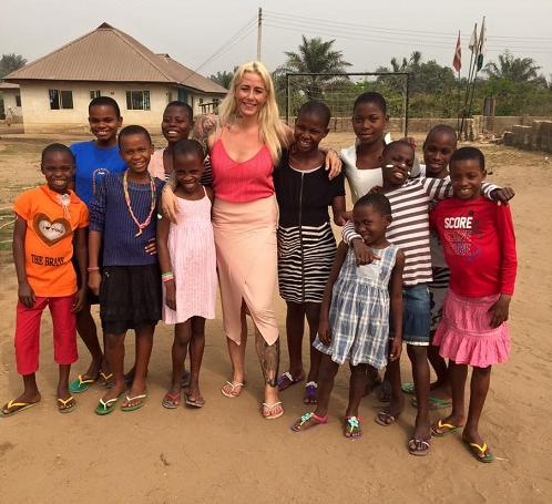 Ringgren Loven with Nigerian children