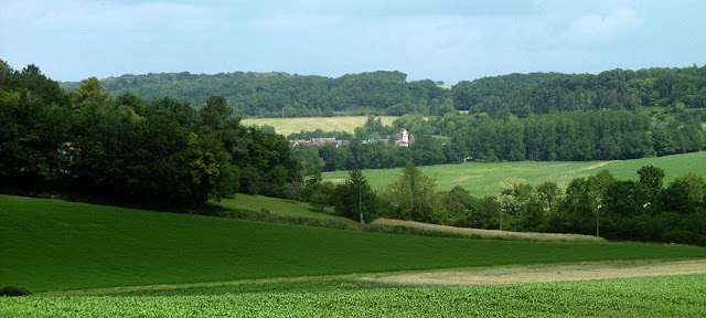 View up the Claise Valley to Chaumussay.  Indre et Loire, France. Photographed by Susan Walter. Tour the Loire Valley with a classic car and a private guide.