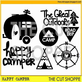 Happy Camper Cut File Set