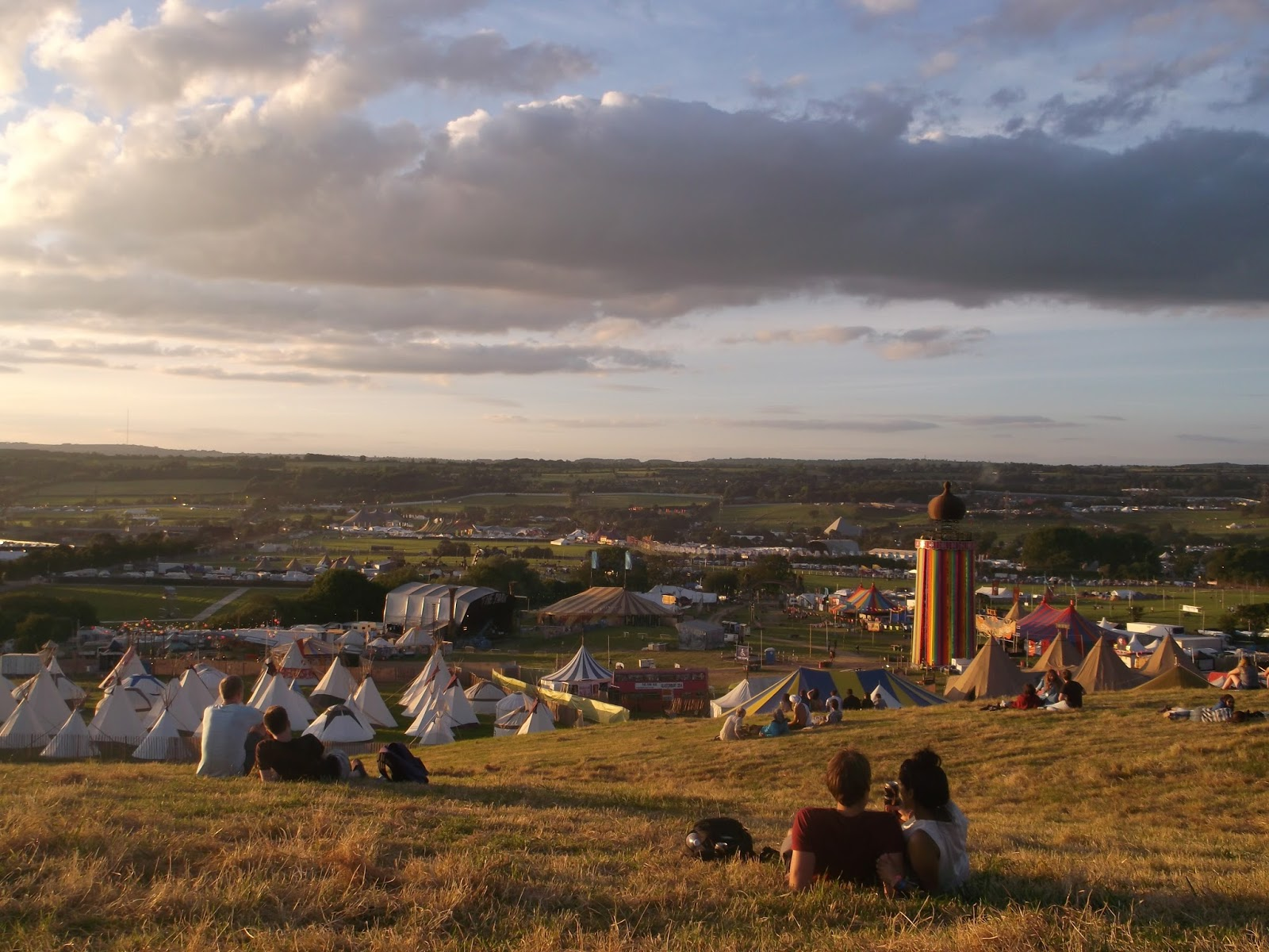 View across Glastonbury Festival 2015