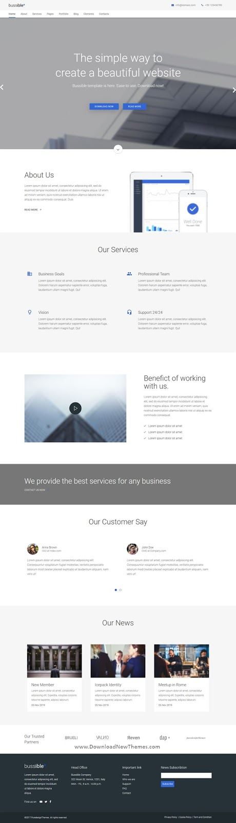 Business, Finance, Startup Joomla Template