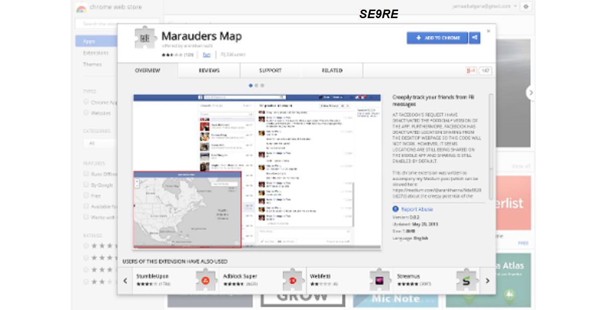 إضافة  على جوجل كروم تمكنك من معرفت مكان أصدقائك على الفيسبوك في نفس اللحظة