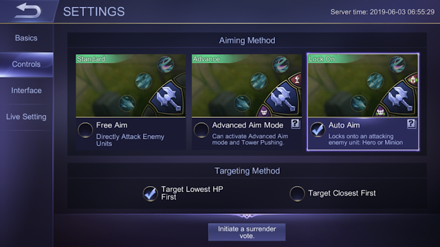 Targeting and Aiming Method Mobile Legends