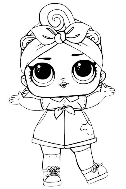desenhos para colorir boneca lol como fazer