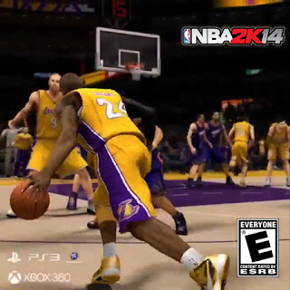 NBA 2K14 Kobe with a fake pass & step back shot