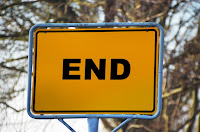 Picture of sign saying End