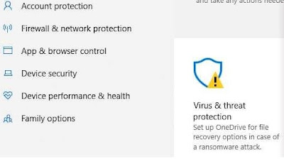 Windows Defender Muncul Tanda Seru