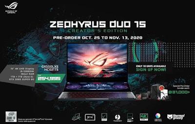 ROG Zephyrus Duo 15 Creator's Edition (GX550LXS-HC021TS)