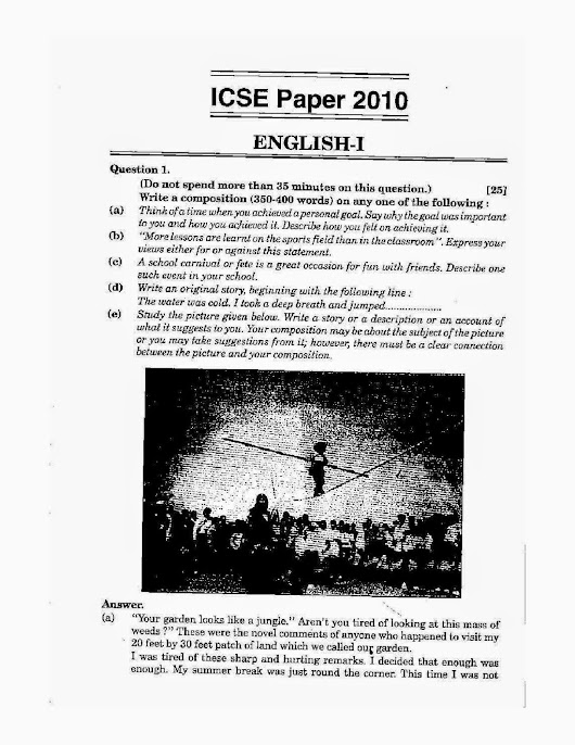 how to study english language for icse