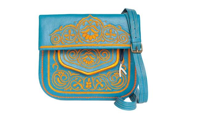 حقيبة جلدية امازيغية تقليدية