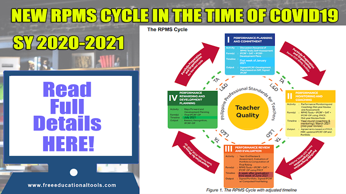 NEW RPMS CYCLE IN THE TIME OF COVID-19 (For Teaching Personnel)