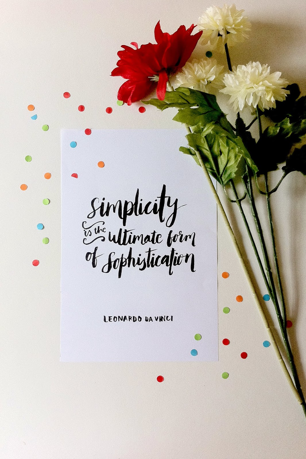 Lettering by The Happy Candle