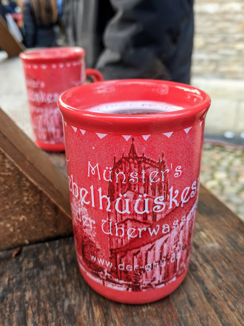 Christmas mug at the Münster Christmas Market in North Rhine-Westphalia Germany