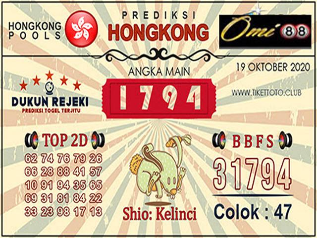 Kode syair Hongkong senin 19 oktober 2020 172