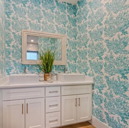 Blue Beach Bathroom Idea Florida Design Home