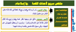 ملخص سريع لأحداث قصة وآه إسلاماه للصف الثاني الثانوي