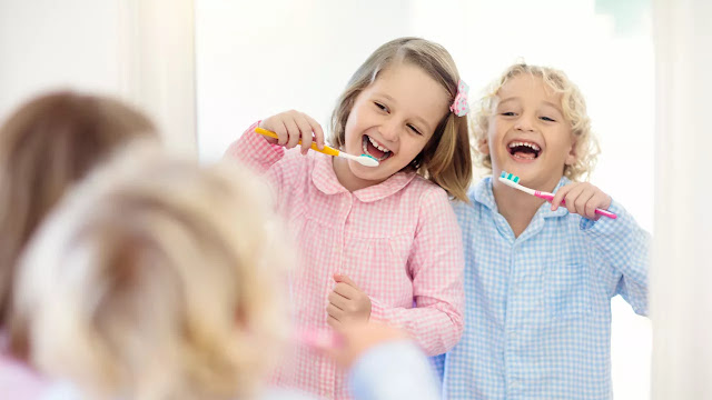 pasta de diente para niños