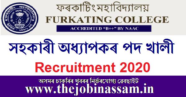 Furkating College Recruitment 2020