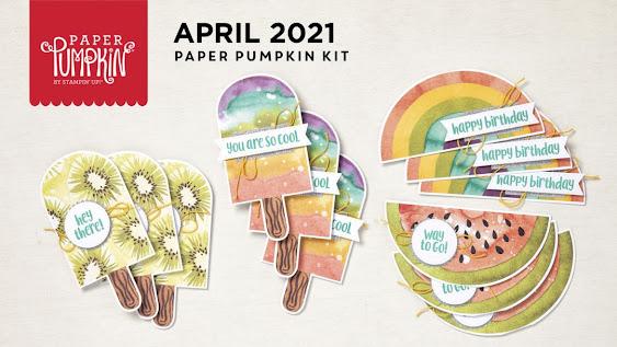 April 2021 So Cool Paper Pumpkin alternative project ideas.