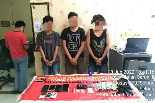 Sering Pesta Narkoba, Kini 5 Pelaku Mendekam di Polres Lotim