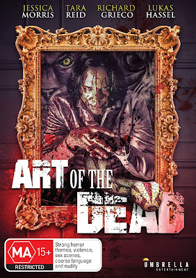 Cover art for Umbrella Entertainment's DVD release of ART OF THE DEAD!