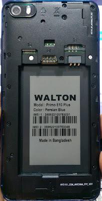 WALTON PRIMO E10 PLUS FLASH FILE