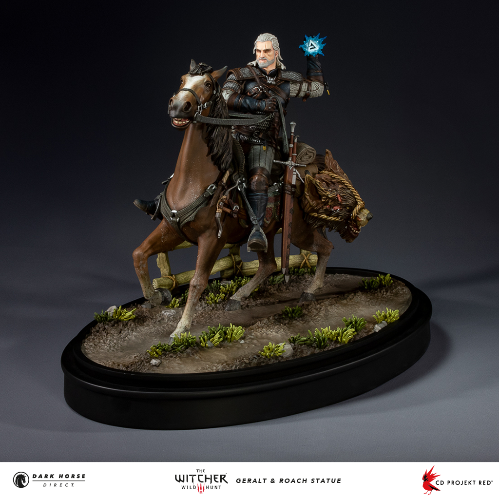 The Witcher 3: Wild Hunt - Studio Dark Horse Direct and CD PROJEKT RED presented a figurine of Geralt and Roach