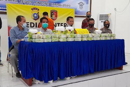 Polres Inhil Berhasil Bekuk Pelaku Narkotika dengan BB Sabu Seberat 50 Kg dan Uang Rp10 Juta