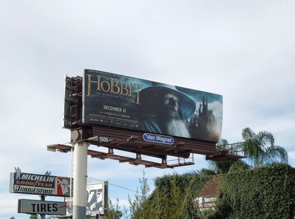 Hobbit 2 Desolation of Smaug Gandalf billboard