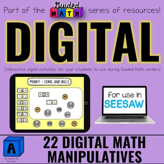 Digital Math Manipulatives for Seesaw