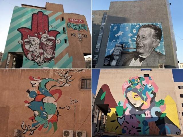 street art nel quartiere Al Swaifyeh
