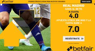 betfair supercuota liga Real Madrid gana Betis 2 noviembre 2019