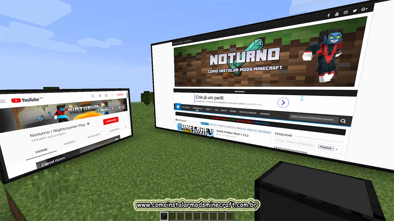 Minecraft Kitchen Mod 1.12.2 Webdisplays Mod 1 12 2 Como Instalar Mods No Minecraft Os