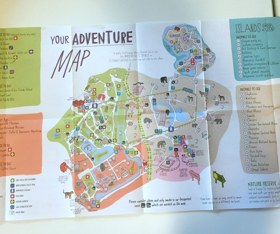 A map of Chester Zoo
